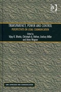 Transparency, Power, and Control 1st Edition 9781317006671 1317006674