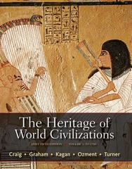 The Heritage of World Civilizations, Volume 1 5th edition 9780205835485 0205835481