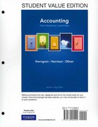 Accounting, Chapters 1-15 (Financial chapters), Student Value Edition 9th edition 9780132569200 0132569205