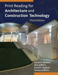 Print Reading for Architecture and Construction Technology with Premium Website Printed Access Card 3rd edition 9781133127277 1133127274