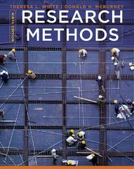 Research Methods 9th edition 9781111840624 1111840628