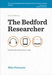 The Bedford Researcher 4th edition 9780312675127 0312675127
