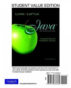 Student Value Edition for Java Software Solutions 7th edition 9780132783385 013278338X