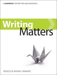 Writing Matters, tabbed (comb-bound) 1st Edition 9780077477462 0077477464
