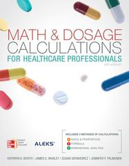 Math and Dosage Calculations for Healthcare Professionals with Student CD 4th edition 9780077460389 0077460383