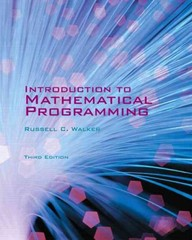 Introduction to Mathematical Programming - Third Edition 3rd edition 9780558859145 0558859143