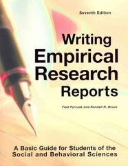 Writing Empirical Research Reports 7th Edition 9781884585975 1884585973