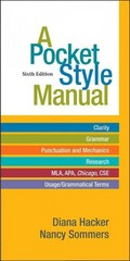 A Pocket Style Manual 6th Edition 9780312542542 0312542542