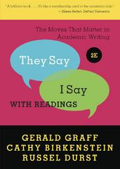 """They Say / I Say"" 2nd Edition 9780393912753 0393912752"