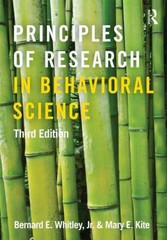 Principles of Research in Behavioral Science 3rd Edition 9780415879286 0415879280