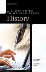 A Short Guide to Writing about History 8th edition 9780205118601 0205118607