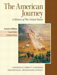The American Journey, Concise Edition 2nd edition 9780205214945 0205214940