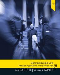 Communication Law 1st Edition 9780205504169 0205504167