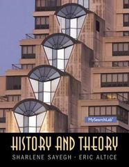 History and Theory 1st Edition 9780136157250 0136157254