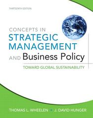 Concepts in Strategic Management and Business Policy 13th edition 9780132153355 0132153351