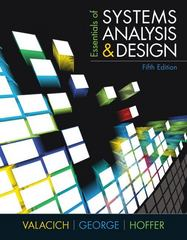 Essentials of Systems Analysis and Design 5th Edition 9780137067114 0137067119