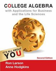 College Algebra with Applications for Business and Life Sciences 2nd edition 9781133108498 1133108490
