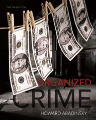 Organized Crime 10th Edition 9781133049630 113304963X