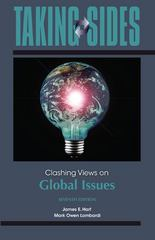 Taking Sides: Clashing Views on Global Issues 7th edition 9780078050244 0078050243