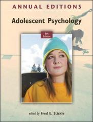 Annual Editions: Adolescent Psychology, 8/e 8th Edition 9780078050992 0078050995