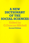 A New Dictionary of the Social Sciences 2nd edition 9780202308784 0202308782