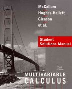 Calculus, Multivariable, Student Solutions Manual 3rd edition 9780471441939 0471441937