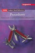 Coders' Desk Reference for Procedures - 2006 1st edition 9781563376924 156337692X