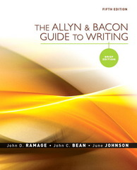 The Allyn & Bacon Guide to Writing 5th edition 9780205598731 0205598730