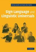 Sign Language and Linguistic Universals 0 9780521483957 0521483956