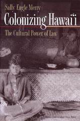 Colonizing Hawai'I 0 9780691009322 0691009325