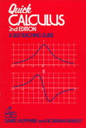 Quick Calculus 2nd Edition 9780471827221 0471827223