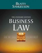 Business Law and the Legal Environment (Standard) 3rd Edition 9780324152876 0324152876