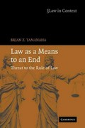 Law As a Means to an End 1st edition 9780521689670 0521689678