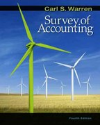 Survey of Accounting 4th edition 9780324658262 0324658265