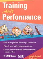 Training Ain't Performance 1st Edition 9781562863678 1562863673