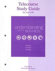 Telecourse Study Guide for Use with Understanding Business 8th edition 9780073106083 0073106089