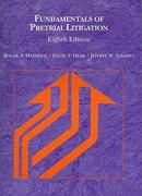 Fundamentals of Pretrial Litigation, 8th 8th edition 9780314267696 0314267697