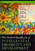 The Oxford Handbook of Intellectual Disability and Development 2nd edition 9780195305012 0195305019