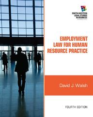 Employment Law for Human Resource Practice 4th Edition 9781111972196 1111972192