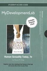 NEW MyDevelopmentLab with Pearson eText Student Access Code Card for Human Sexuality Today (standalone) 7th edition 9780205183814 0205183816