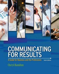 Communicating for Results 10th Edition 9781285663371 1285663373