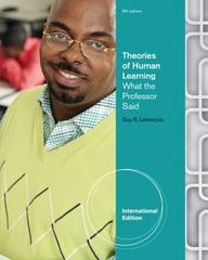 Theories of Human Learning 6th Edition 9781111830144 1111830142