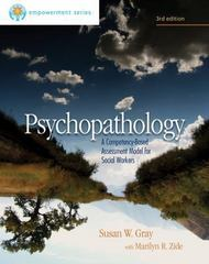 Brooks/Cole Empowerment Series: Psychopathology 3rd Edition 9780840029157 0840029152