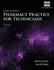 Pharmacy Practice for Technicians 5th Edition 9781285974293 1285974298