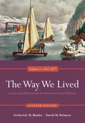 The Way We Lived 7th edition 9780840029508 0840029500