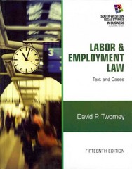 Labor and Employment Law 15th edition 9781133188285 1133188281