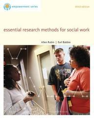 Essential Research Methods for Social Work (Brooks/Cole Empowerment Series) 3rd Edition 9780840029133 0840029136
