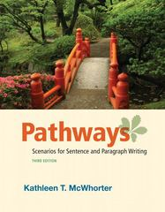 Pathways: Scenarios for Sentence and Paragraph Writing 3rd edition 9780205058075 0205058078