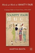 Words at Work in Vanity Fair 1st edition 9780230116979 0230116973