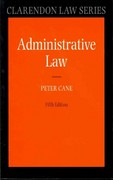 Administrative Law 5th edition 9780199692330 0199692335